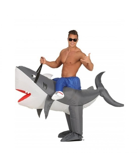 Disfraz Tiburón Hinchable adulto