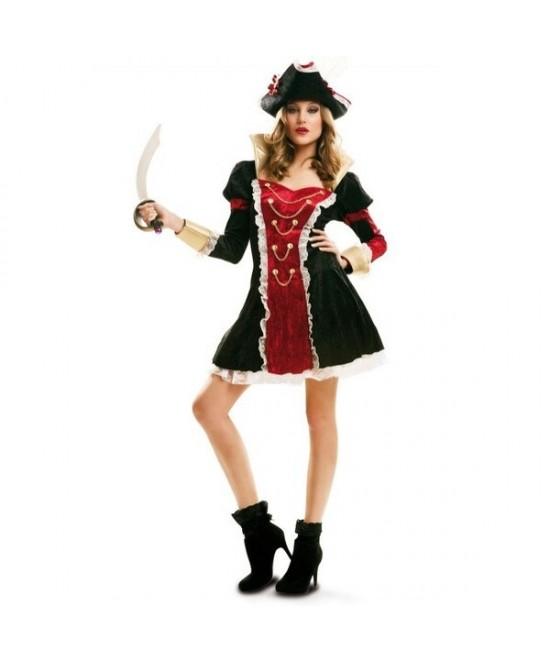Disfraz Pirata Real Deluxe mujer T.ML