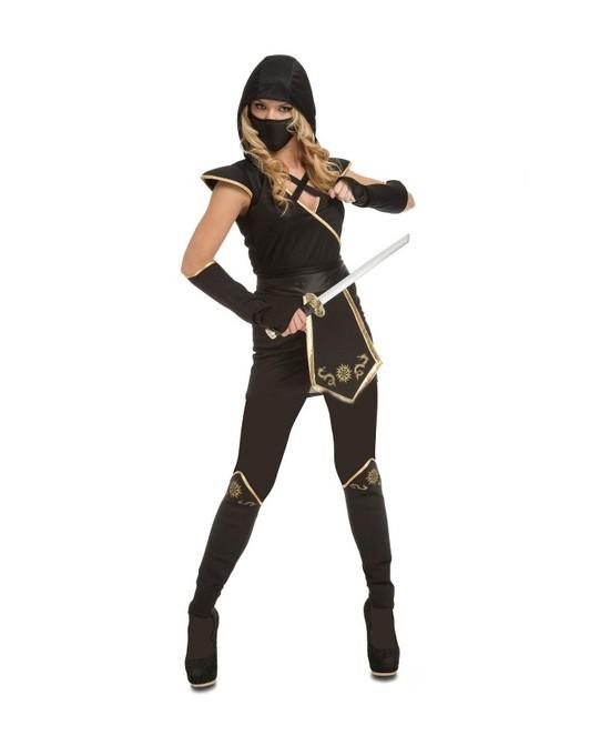 Disfraz Ninja negro mujer