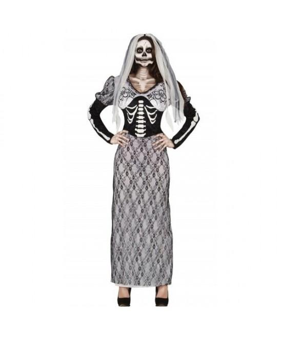 Disfraz Skeleton bride mujer T.L