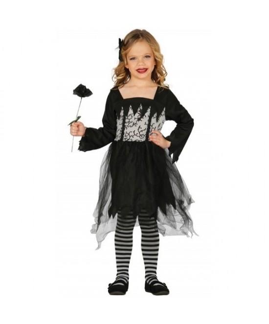 Disfraz Miss Gotica niña