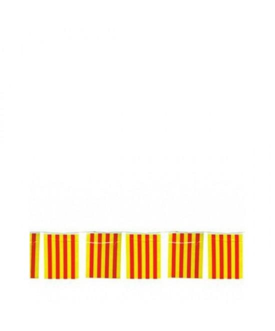 Bandera Catalana 50 M. 20x30cm plastico
