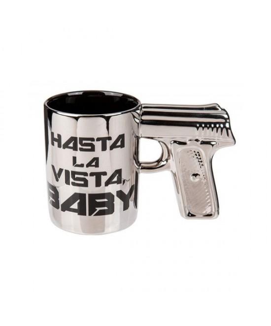 Taza  con mango pistola